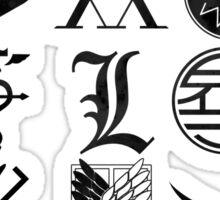 Anime Logos Black Sticker