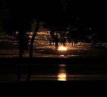 Sunset on Pumicestone by bribiedamo