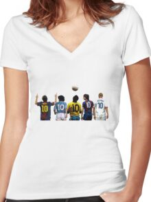 Top Number Tens Women's Fitted V-Neck T-Shirt