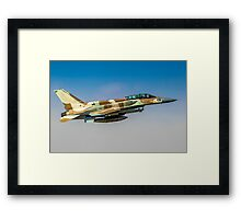 Israeli Air Force (IAF) F-16I Fighter jet in flight Framed Print