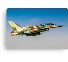 Israeli Air Force (IAF) F-16I Fighter jet in flight Canvas Print