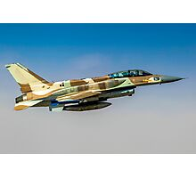 Israeli Air Force (IAF) F-16I Fighter jet in flight Photographic Print