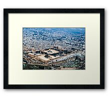 Aerial view of the Dome of the Rock, Temple Mount Old City, Jerusalem Framed Print