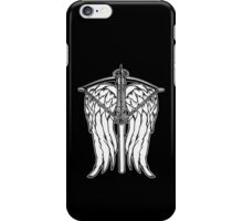 Angel Wings and Crossbow (Clean) iPhone Case/Skin