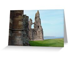 cliffside ruins Greeting Card