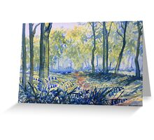 """Bluebells in Sewerby Park Greeting Card"