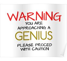 Warning GENIUS Poster