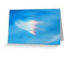 Heart Shaped Rainbow Colored Cloud Greeting Card