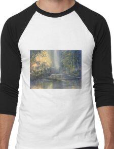 """Dawn on the Derwent"" Men's Baseball ¾ T-Shirt"