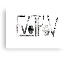 Greek typography Canvas Print