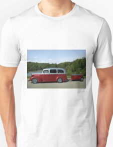 1937 Chevrolet Suburban with Trailer Unisex T-Shirt