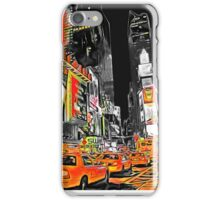 Times Square Taxis iPhone Case/Skin