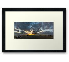 SUNSET - PANORAMA Framed Print