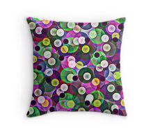 Glass Marbles Throw Pillow
