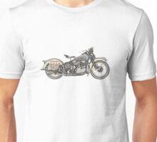 1936 Harley Davidson Motorcycle Unisex T-Shirt