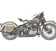 1936 Harley Davidson Motorcycle by surgedesigns