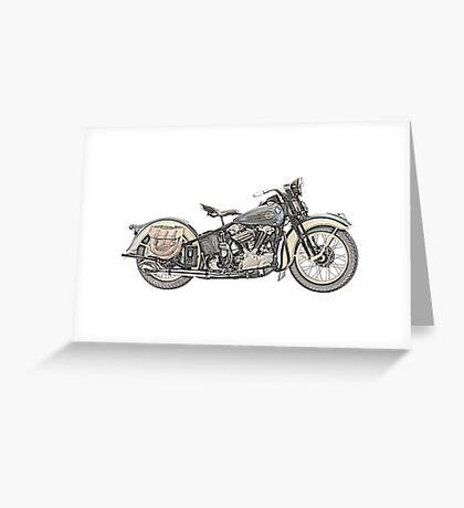 1936 Harley Davidson Motorcycle Greeting Card
