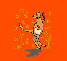 Kick Boxing Kangaroo (Background) Unisex T-Shirt