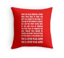 You'll Never Walk Alone - WHITE Throw Pillow