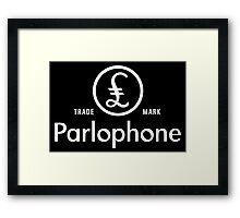 British Invasion - Parlophone Records (White) Framed Print