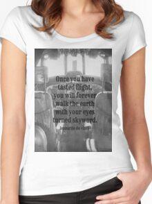 Da Vinci Flight Women's Fitted Scoop T-Shirt
