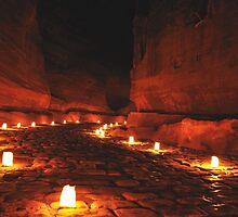 Night Petra by Milonk