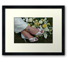 Sure Not Cold Feet Framed Print