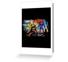 Goku Vs Superman - Epic Funny Battle  Greeting Card