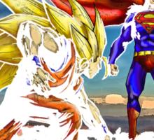 Goku Vs Superman - Epic Funny Battle  Sticker