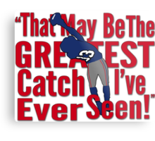 That May Be The Greatest Catch I've ever Seen Metal Print