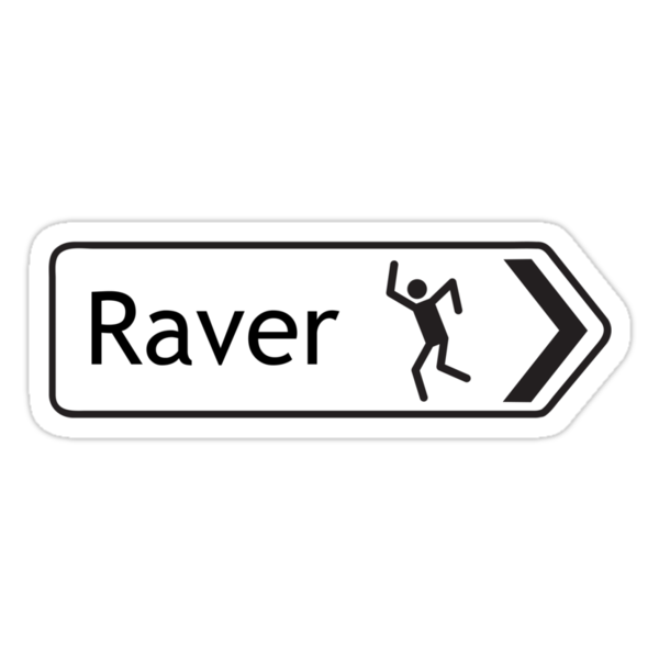 Raver Signpost by Giles