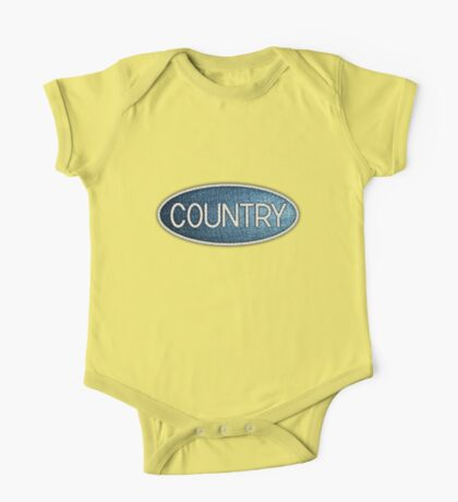 Country music White One Piece - Short Sleeve