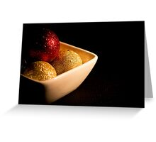 Chocolates bubbles in foil Greeting Card