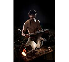 Old style manual labour Blacksmith  Photographic Print