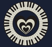 Heart & Keyboard  Kids Tee