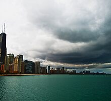 Storm in Chicago by bjphotographs
