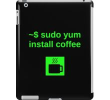 Linux sudo yum install coffee iPad Case/Skin