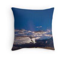 Blue Set Throw Pillow