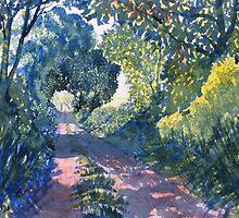 """""""Hockney's Tunnel of Trees"""" by Glenn  Marshall"""