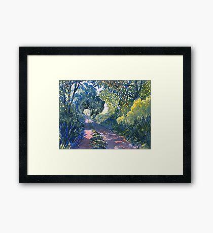 """""""Hockney's Tunnel of Trees"""" Framed Print"""