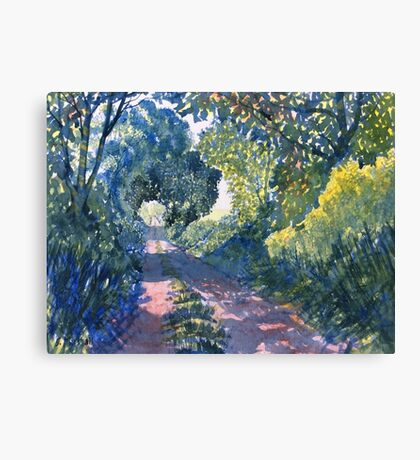 """Hockney's Tunnel of Trees"" Canvas Print"