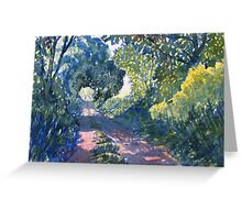 """Hockney's Tunnel of Trees"" Greeting Card"