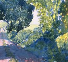 """""""Hockney's Tunnel of Trees"""" Sticker"""