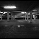 Car park after dark by daveyt