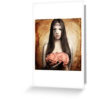 Almodine Holding Roses (Love Be Mine) Greeting Card