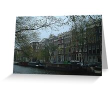 Canal Houses, Amsterdam Greeting Card