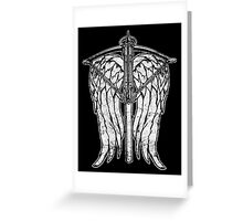 Angel Wings and Crossbow (Dirty) Greeting Card