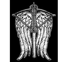 Angel Wings and Crossbow (Dirty) Photographic Print
