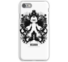 Megaman Nintendo Geek Psychological Diagnosis Ink Blot iPhone Case/Skin