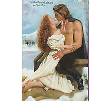 Romance Novel, Devil in Winter, couple Photographic Print